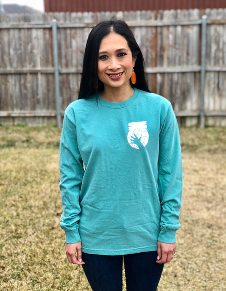 Teal Long Sleeve Possible Starts Now Tee