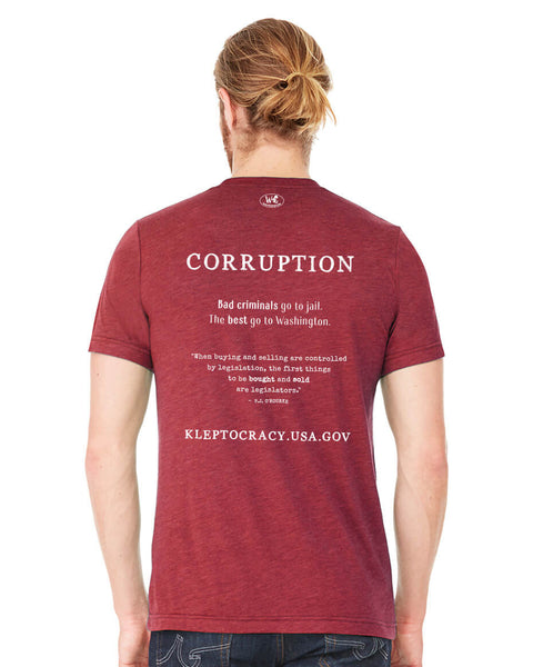 Corruption - Men's Edition - Cardinal Red Heathered