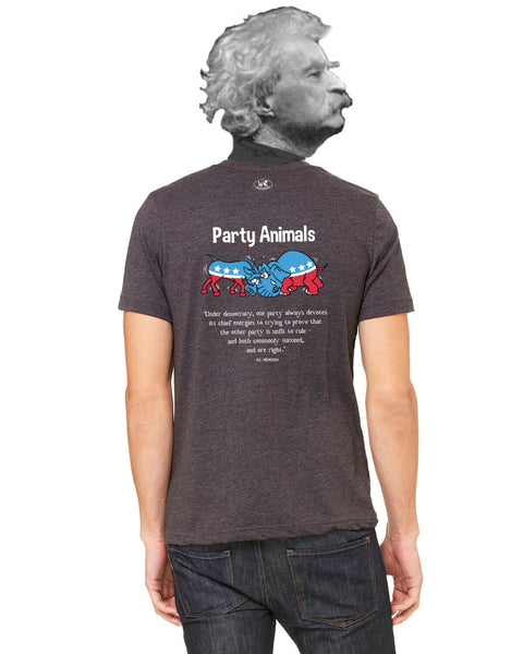 Party Animals - Men's Edition - Dark Grey Heathered - Back