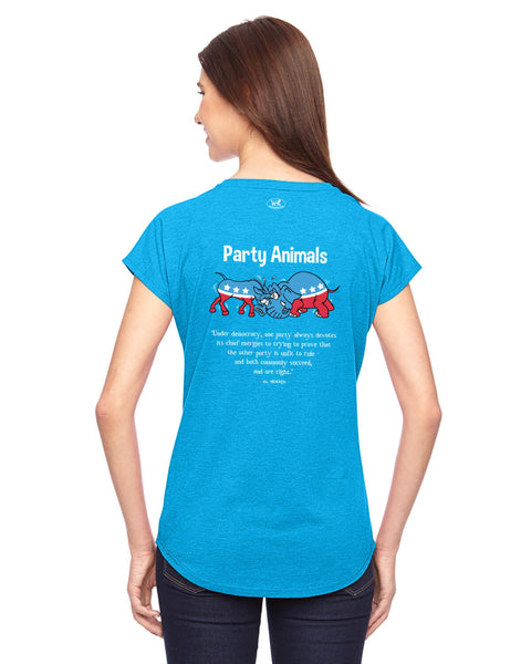 Party Animals - Women's Edition - Caribbean Blue Heathered