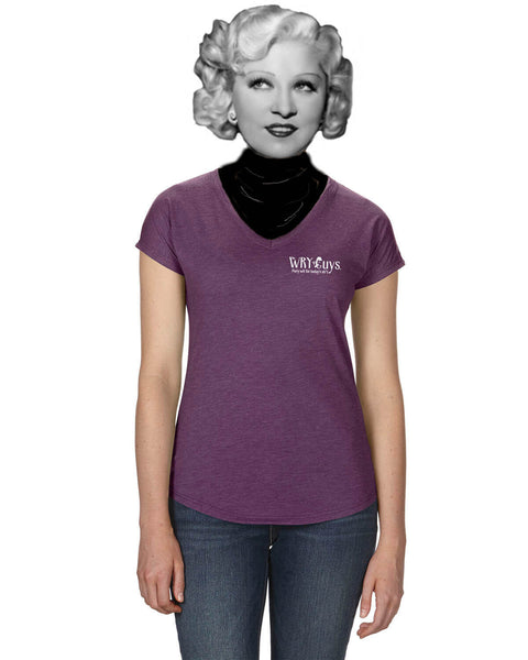 'Remember peace?' v.2 - Women's Edition - Aubergine Heathered