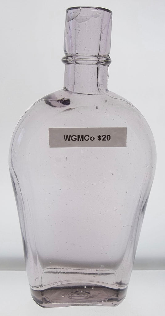 WGMCo Sun Colored Amethyst Half Pint Sized Flask from Colorado