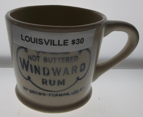Genuine Hot Buttered Windward Rum Mug from Louisville, Kentucky