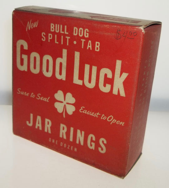 Bull Dog Good Luck Jar Rings Box