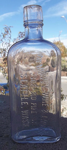 Beautiful Violet Murphy Wine & Liquor Co. Bottle From Seattle Washington