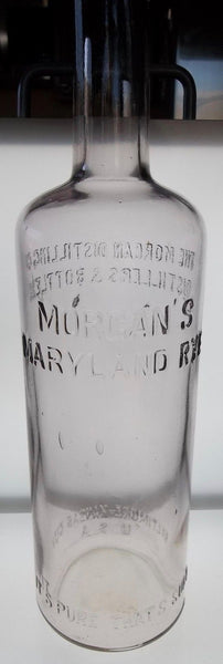 Morgan's Maryland and Kansas City Rye Bottle
