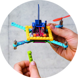 Build drones using standard construction bricks.