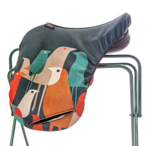 Art of Riding Neoprene Saddle Cover for Jumping and All-Purpose Saddles - Flock Of Birds