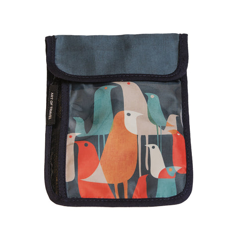 Art of Travel Passport Neck Wallet - Flock Of Birds