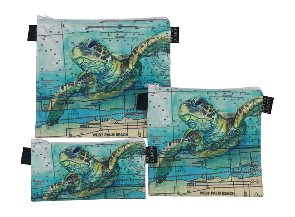 Loggerhead Sea Turtle Reusable Sandwich Bag Set (Limited Edition) - Carly Mejeur