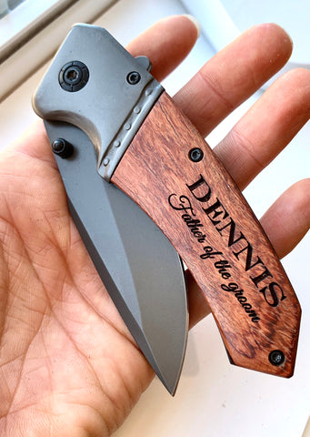 Mens Pocket Knife - Grooms Party gifts - Knot and Nest Designs