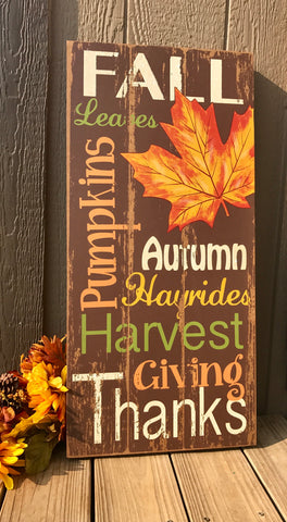 Extra Large Fall Sign - Knot and Nest Designs