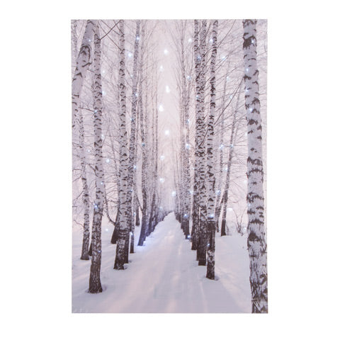 Light Up Canvas Winter Woods Decor - Knot and Nest Designs