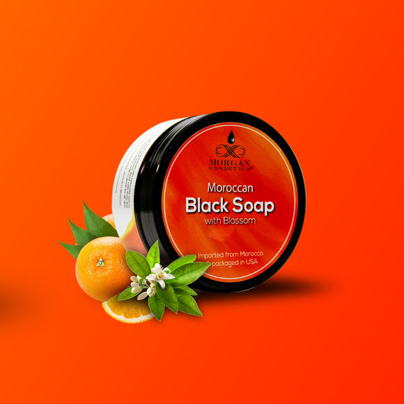 Moroccan Black Soap with Blossom 8oz