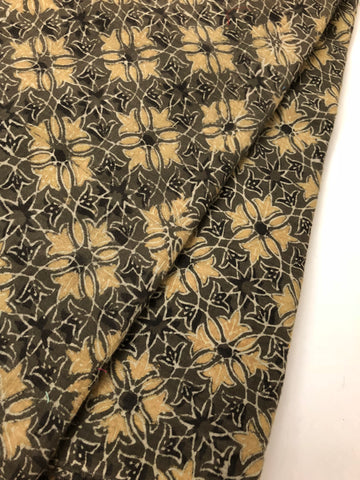 Ajrak printed cotton mal fabric 75 cms cut
