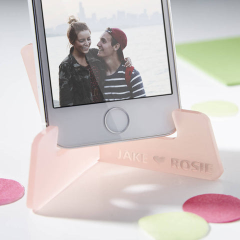 Personalised Couples Phone Stand