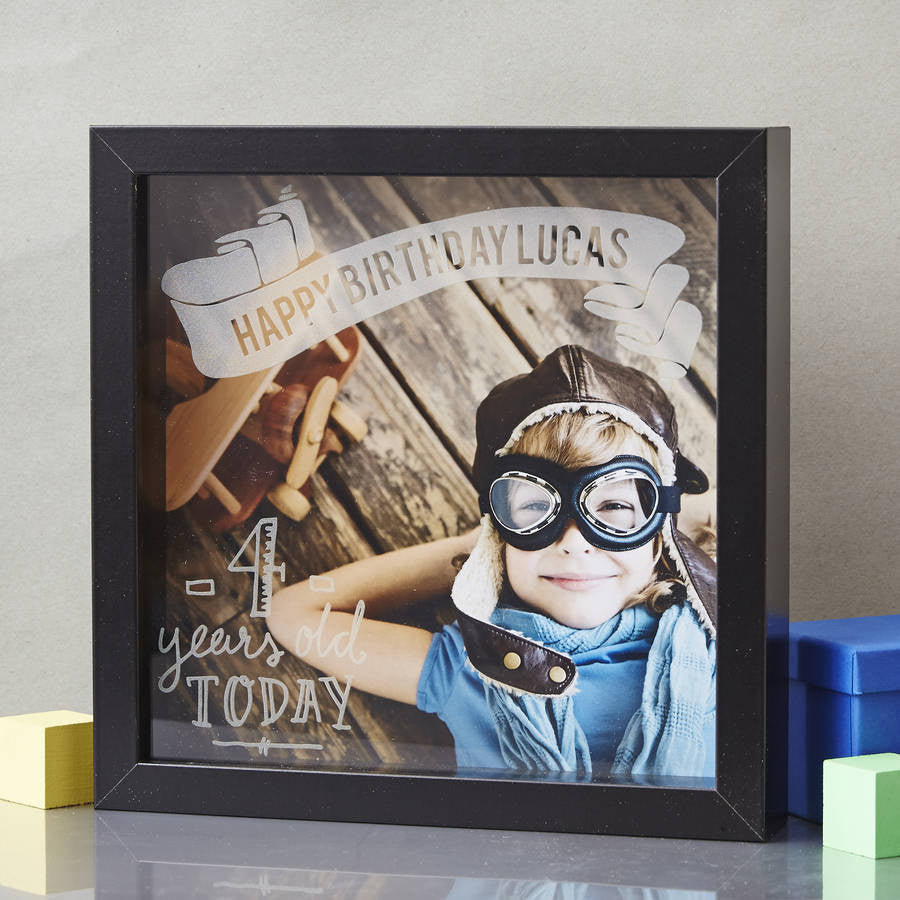 Personalised Child's Etched Framed Print