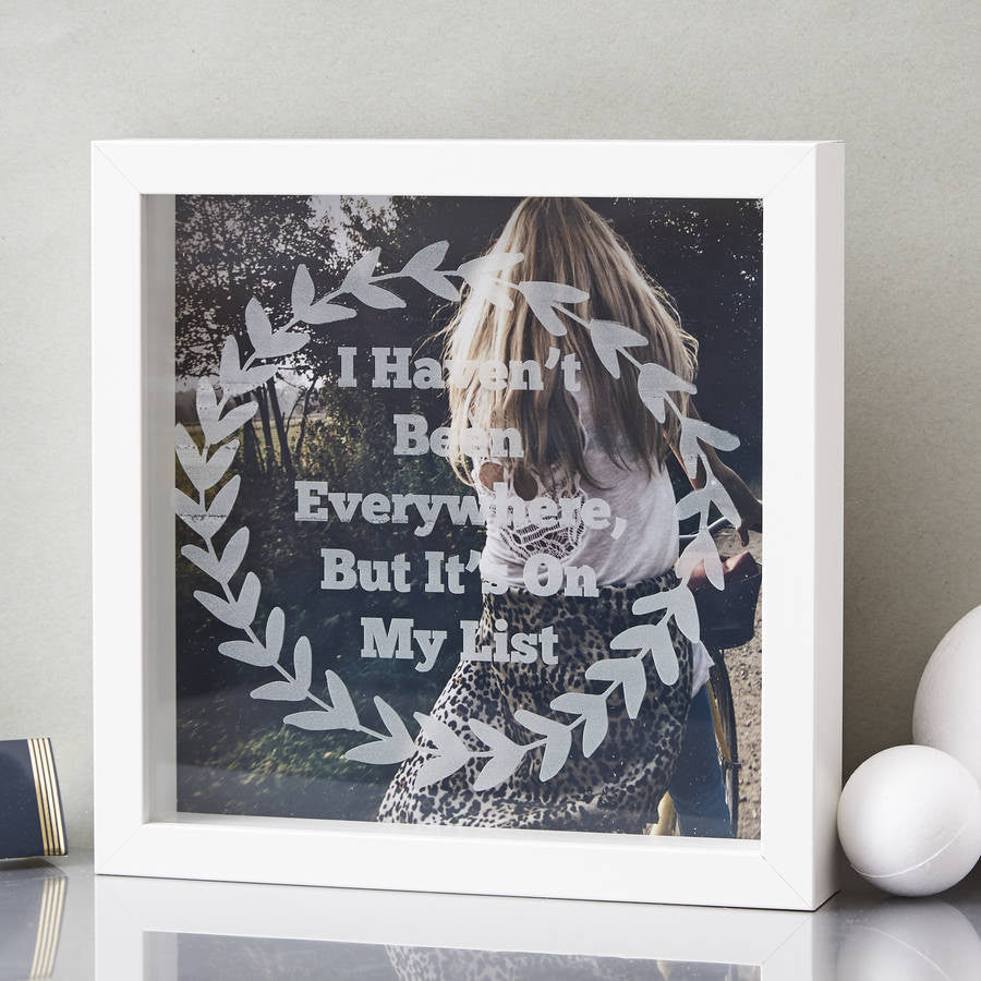 Personalised Laurel Etched Framed Print