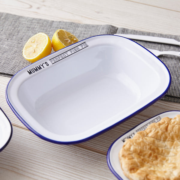 Personalised Enamel Pie Dish For Her