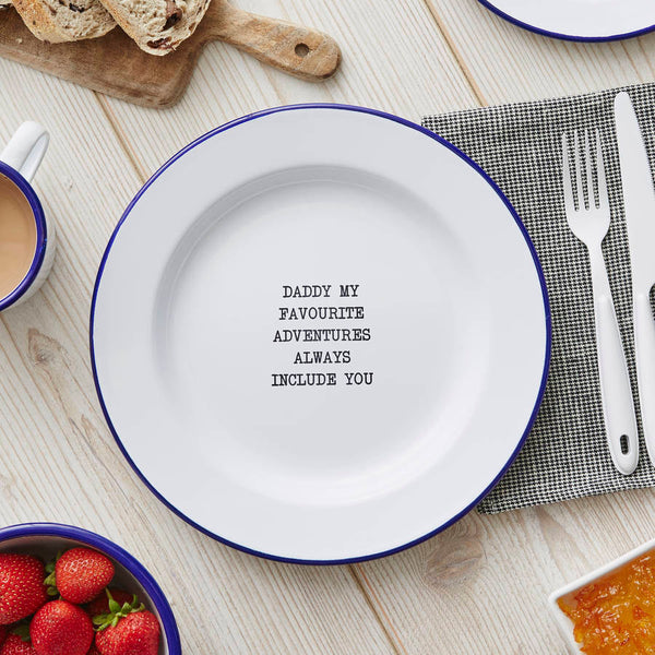 Personalised Message Enamel Plate