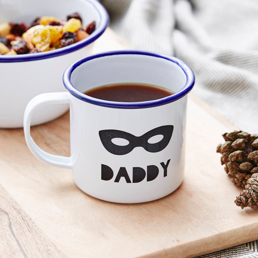 Personalised Superhero Enamel Mug