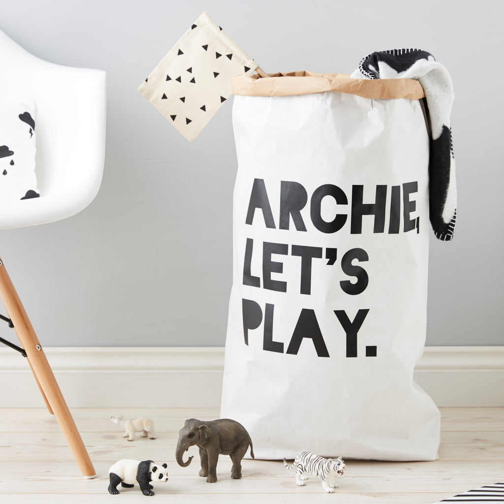 Personalised Let's Play Children's Storage Sack