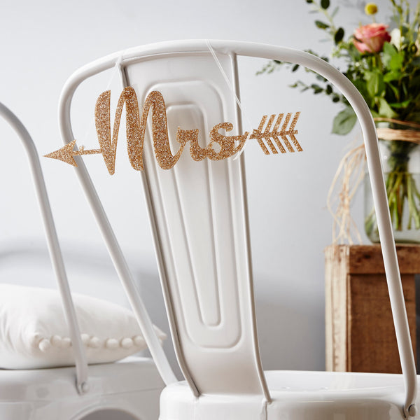Personalised Arrow Wedding Chair Sign
