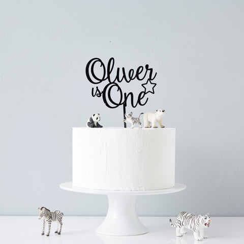 Personalised Star Children's Birthday Cake Topper