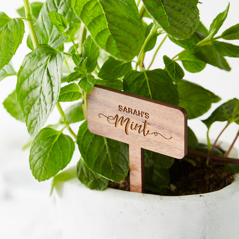 Personalised Wooden Plant Marker