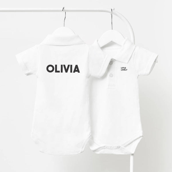 Baby Name Personalised Polo Babygrow