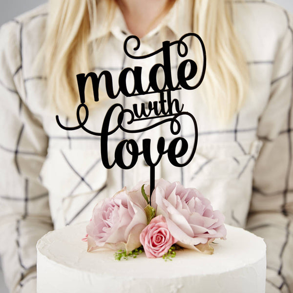 Made With Love Cake Topper