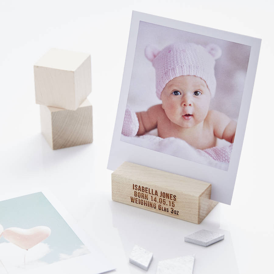 Personalised Baby Girl Photo Block