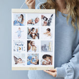 Personalised Baby Magnetic Hanging Photo Print Frame