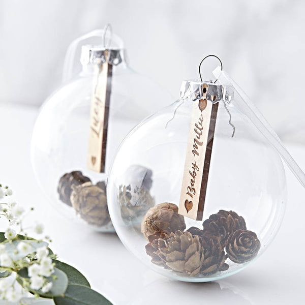 Personalised Baby's First Christmas Pine Cone Bauble