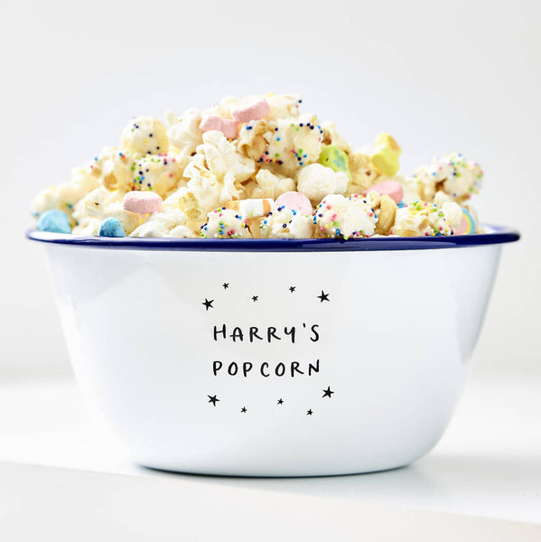 Little Stars Personalised Popcorn Bowl