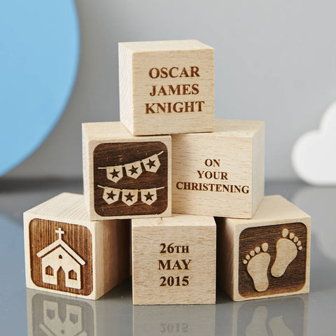 Personalised Christening Star Building Block