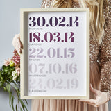 Personalised Couples Special Dates Print