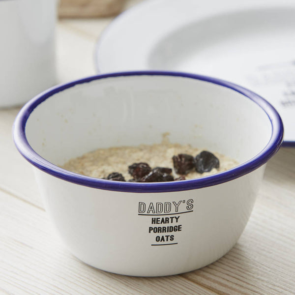 Personalised Enamel Bowl For Him