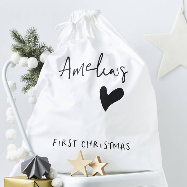 Personalised First Christmas Sack
