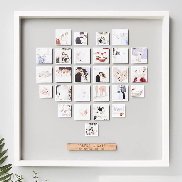 Personalised Framed Heart Photo Print