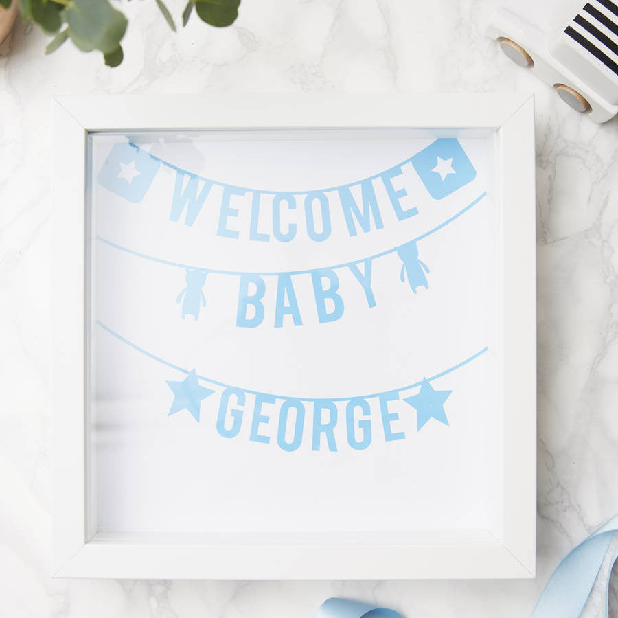 Personalised Framed New Baby Print
