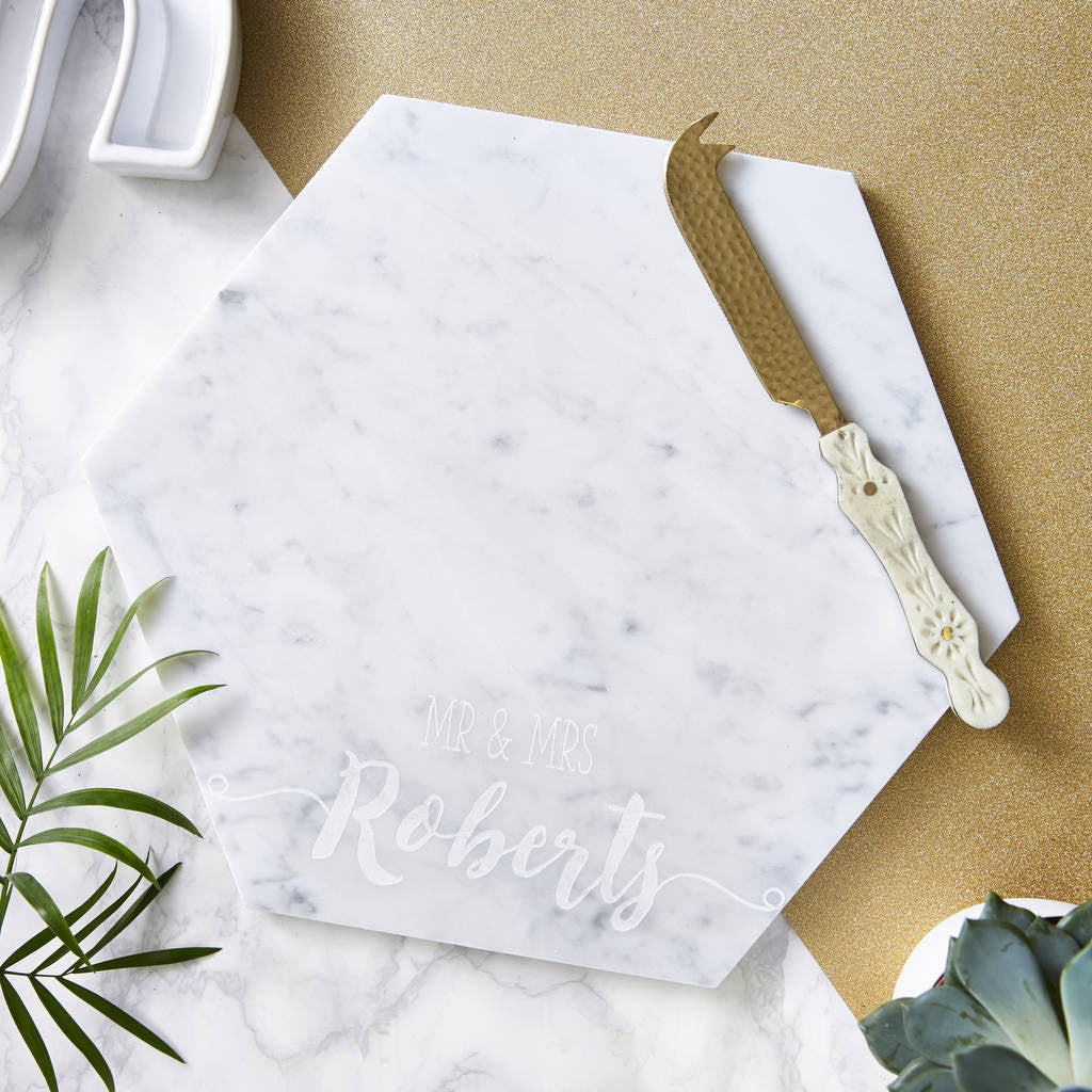 Wedding Personalised Marble Serving Board