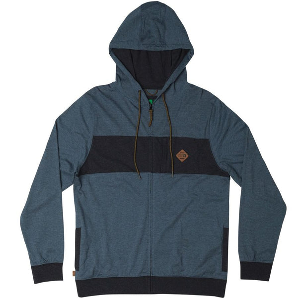 hippy tree hoodie dover blue