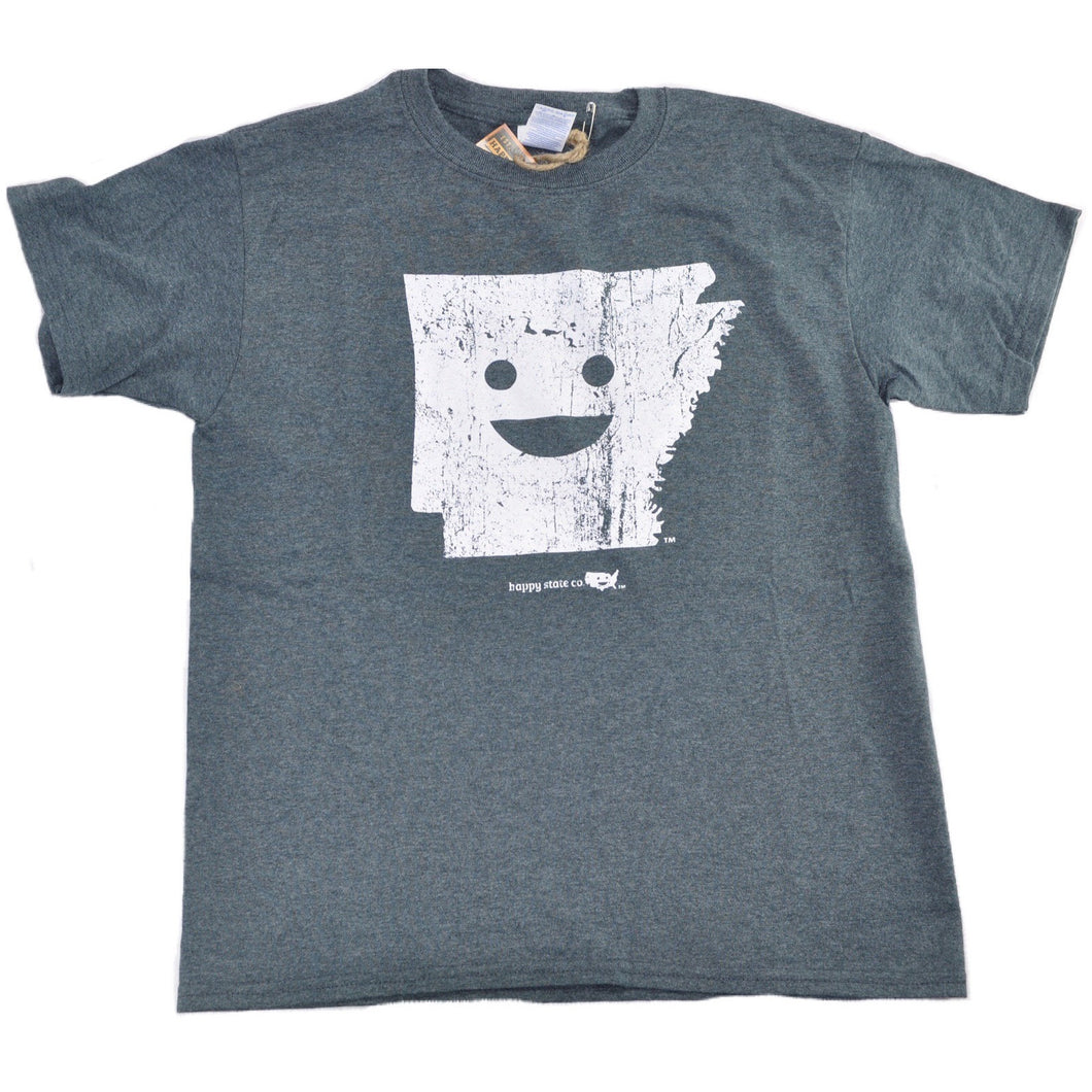 Happy State Arkansas T-Shirt - Gray
