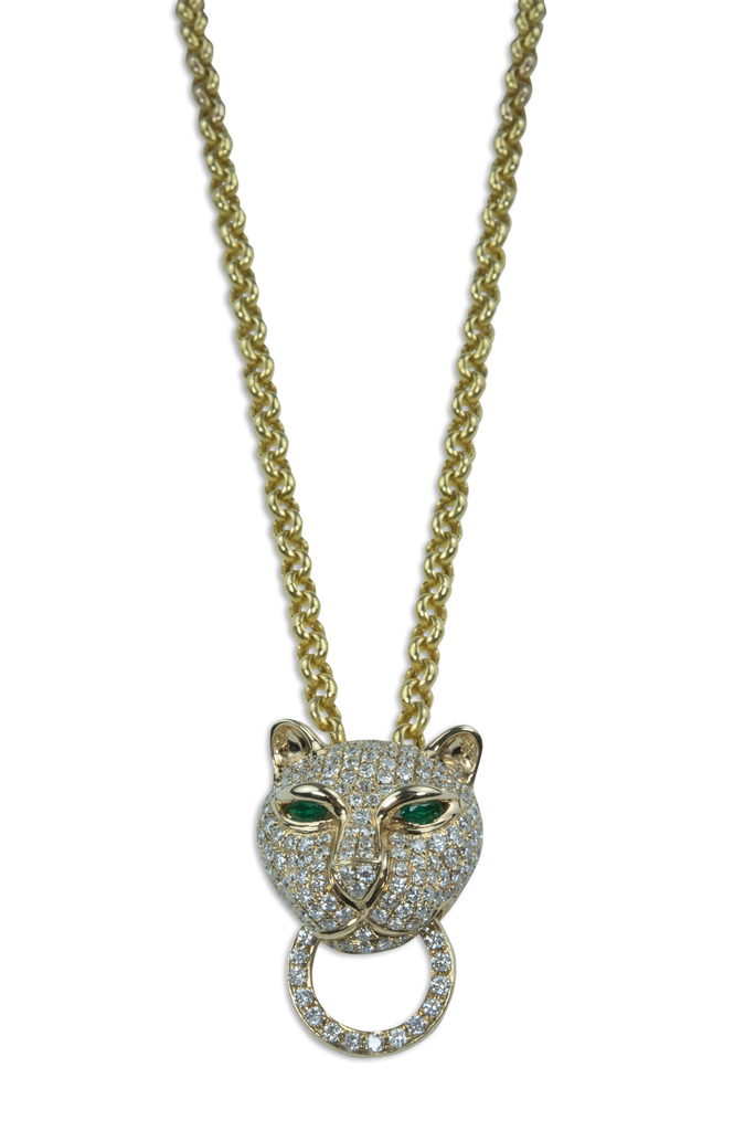Diamond Panther Necklace