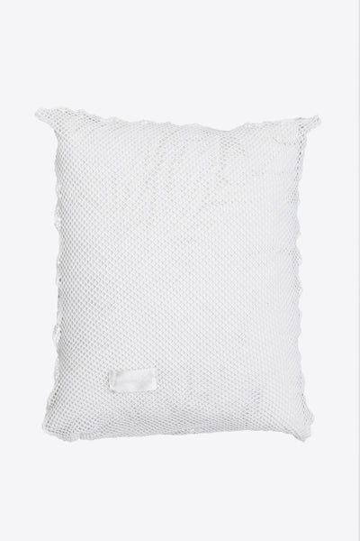 Sex <br> Pillow case <br> Open mesh <br> Optic white