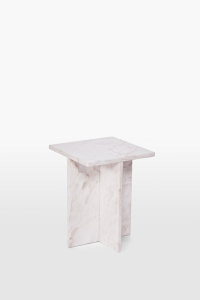 Fox <br> Stool <br> Marble <br> Pink