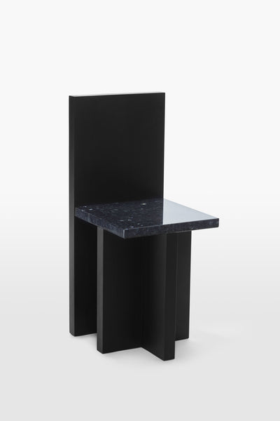 Pony <br> Chair <br> Pine Wood x Granite <br> Black x Glitter