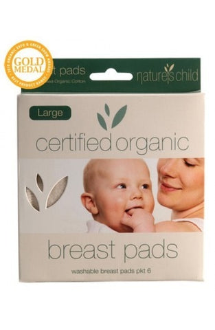 Organic Cotton Breast Pads from Nature's Child Night / Large