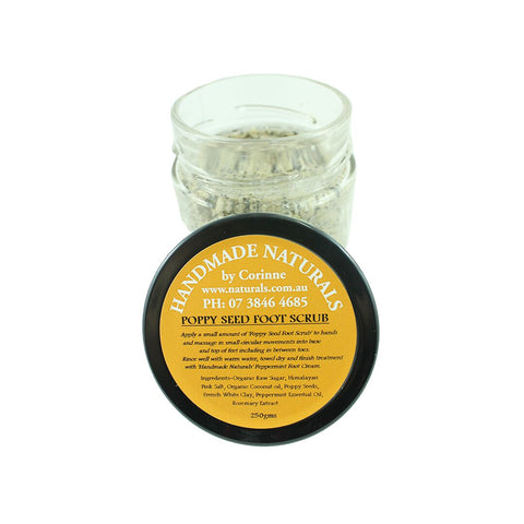 Poppy Seed Foot Scrub from Handmade Naturals